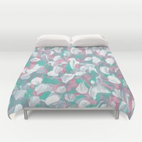 Tropical Petals Duvet Cover by Kat Mun
