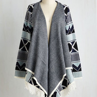 Boho Mid-length Long Sleeve Fantastic Graphics Cardigan