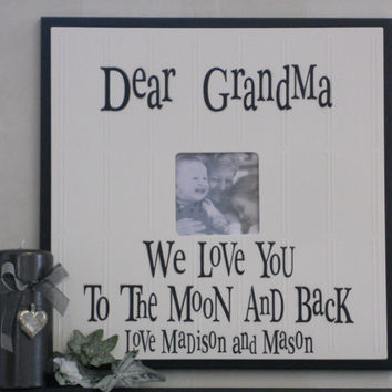 i love grandma or grandpa gift frames signs personalized with name black photo frame we
