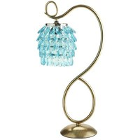 Swirls & Drops Lamp - Aqua