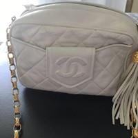 Authentic Chanel lambskin bag!pre-owned!Mint!