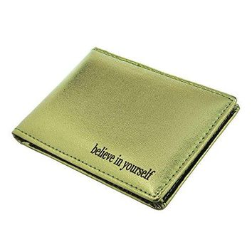 Ayliss Offer Custom Text Service Leather Wallet Slim Minimalist Pocket Wallet Card Holder