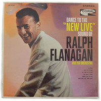 """Vintage 60s Dance to the """"New Live"""" Sound of Ralph Flanagan and His Orchestra Album Record Vinyl"""