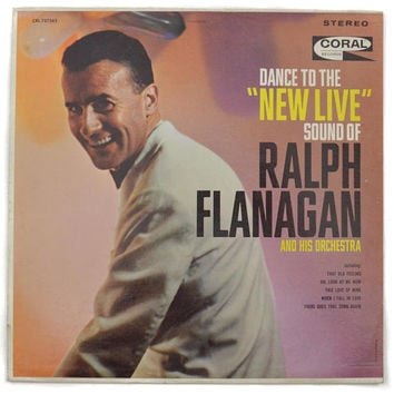 "Vintage 60s Dance to the ""New Live"" Sound of Ralph Flanagan and His Orchestra Album Record Vinyl"
