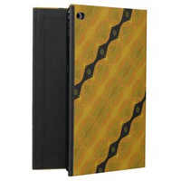 Black Gold and Olive Modern Abstract Stripe Powis iPad Air 2 Case