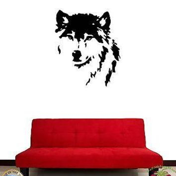 Wall Sticker Wolf Animal Predator Cool Decor for Living Room Unique Gift z1329