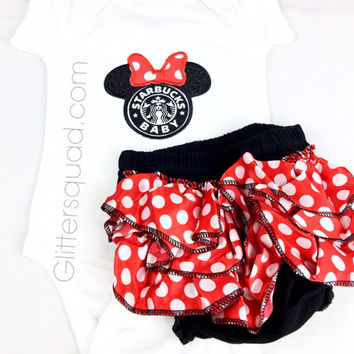 Starbucks Baby Onesuit with Matching Petti Bloomers