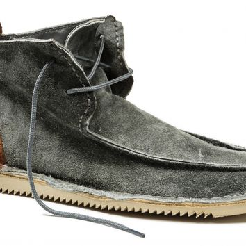 BOLOO x McNairy Grey Suede with Antique Brown
