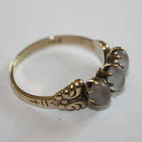 Victorian Czech Ring Saphiret 14kt Gold 1900s Fine Jewelry
