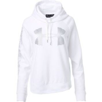 Under Armour Women's Favorite Fleece Metallic Stripe Big Logo Hoodie | DICK'S Sporting Goods