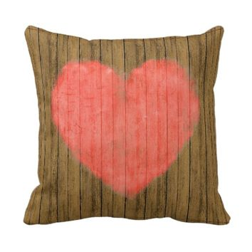 Heart Drawing in Wood Wall