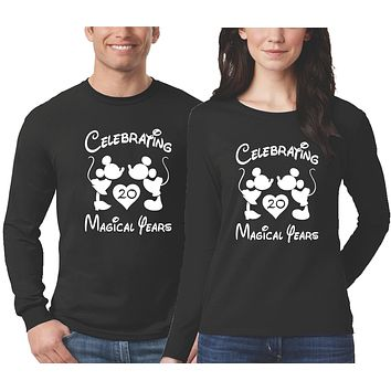 Personalized Anniversary Shirts for Couples - Long Sleeve - Black