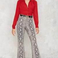 Vintage Tom Ford for Gucci Come Slither Leather Pants