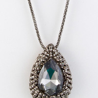 Gwen Crystal Teardrop Pendant Necklace
