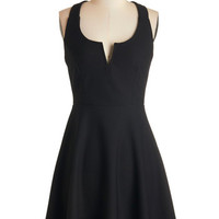 ModCloth Mid-length Sleeveless A-line Shared Laughter Dress in Black