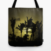 Sunset in Tropics Tote Bag by Zina Zinchik