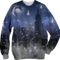 Stars Cannot Shine Without Darkness - City Version (City Lights Series) Unisex Sweatshirt created by soaringanchordesigns | Print All Over Me