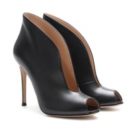 mytheresa.com - Leather peep-toe pumps - Luxury Fashion for Women / Designer clothing, shoes, bags
