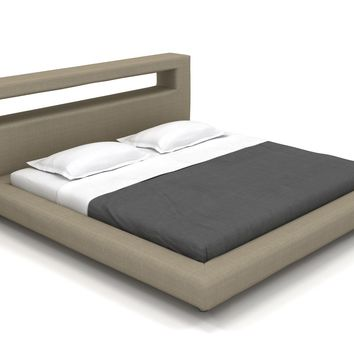 "Modern Bed, Nini King Platform Bed - 36"" Headboard (Custom) 