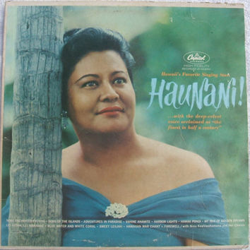 Hawaii's Favorite Singing Star Haunani Webley Edwards Signed Autograph Vinyl LP Capitol Records T1700 Monarch Room Royal Hawaiian Hotel 1964