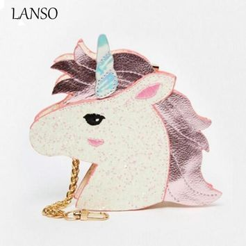 New Design Fashion Unicorn Bag Symphony Skinnydip Wallet Hologram Purse The Harajuku Girl Heart Sister Horse Laser Retro Clutch