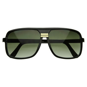 Retro Square Plastic Hip Hop Shades Sunglasses 2809