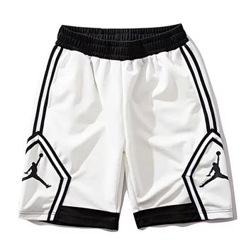NIKE Air Jordan Fashion Summer New Pattern Print Women Men Sports Leisure Shorts White