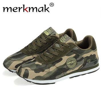 Camouflage Military Men Canvas Shoes Men Casual Shoes Breathable Camo Men Flats