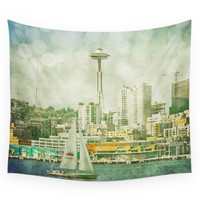 Society6 Seattle Skyline Wall Tapestry