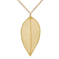 Geo Leaf Necklace