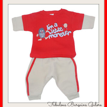 Boys Little Monster Outfit