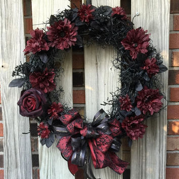 Halloween / Fall / Goth Wreath