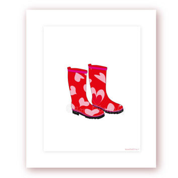 Rain Boots Digital Print Fashion Printable Girls Wall Decor Room Decor Teen Wall Decor Fashion Poster Office Wall Art Fashion Wall Art Print