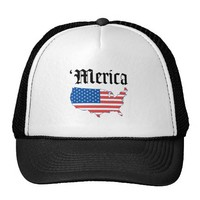 Merica Old English Letters Hat from Zazzle.com