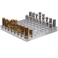 Italian Chess Set in Bronze, Nickel and Acrylic