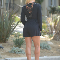Into the Woods Romper - Black