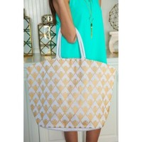 Glisten To Me Tote-White