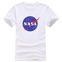 Womens Men Casual NASA Print T-Shirts