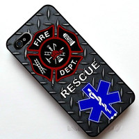 EMT Firefighter Fireman Fire case for iPhone 4s 5s 5c 6 Plus iPod touch 4 5 th Samsung Galaxy s2 s3 s4 s5 mini note 2 3 4 cases