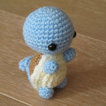 Pokemon Squirtle Amigurumi - Crochet plush small toy plush