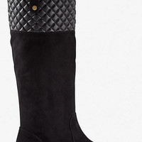 QUILTED TOP SLIP ON BOOT from EXPRESS