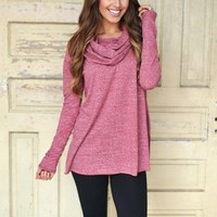 Cowl Tunic- Red