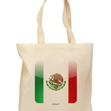 Mexican Flag App Icon Grocery Tote Bag by TooLoud