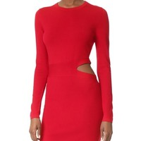 Railey Long Sleeve Dress with Side Cutout Detail