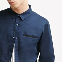 Contrast-Trimmed Oxford Shirt