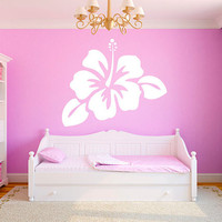 "Hibiscus Flower 26""x22"" Vinyl Wall Decal Graphics Girls Bedroom Living Room Home Decor"