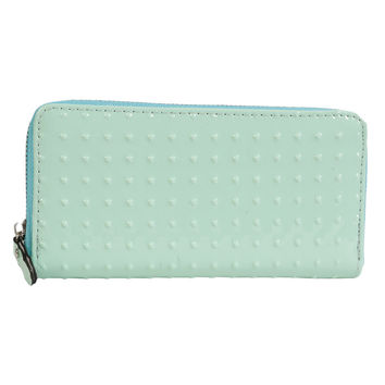 Patent Dotted Pastel Wallet - Mint