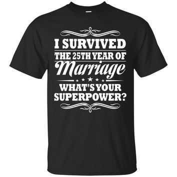 25th Wedding Anniversary Gift Ideas For Her Him- I Survived