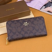COACH Women Fashion Leather Zipper Wallet Purse