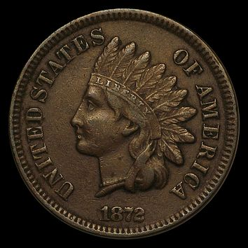 1872 Indian Head Cent XF